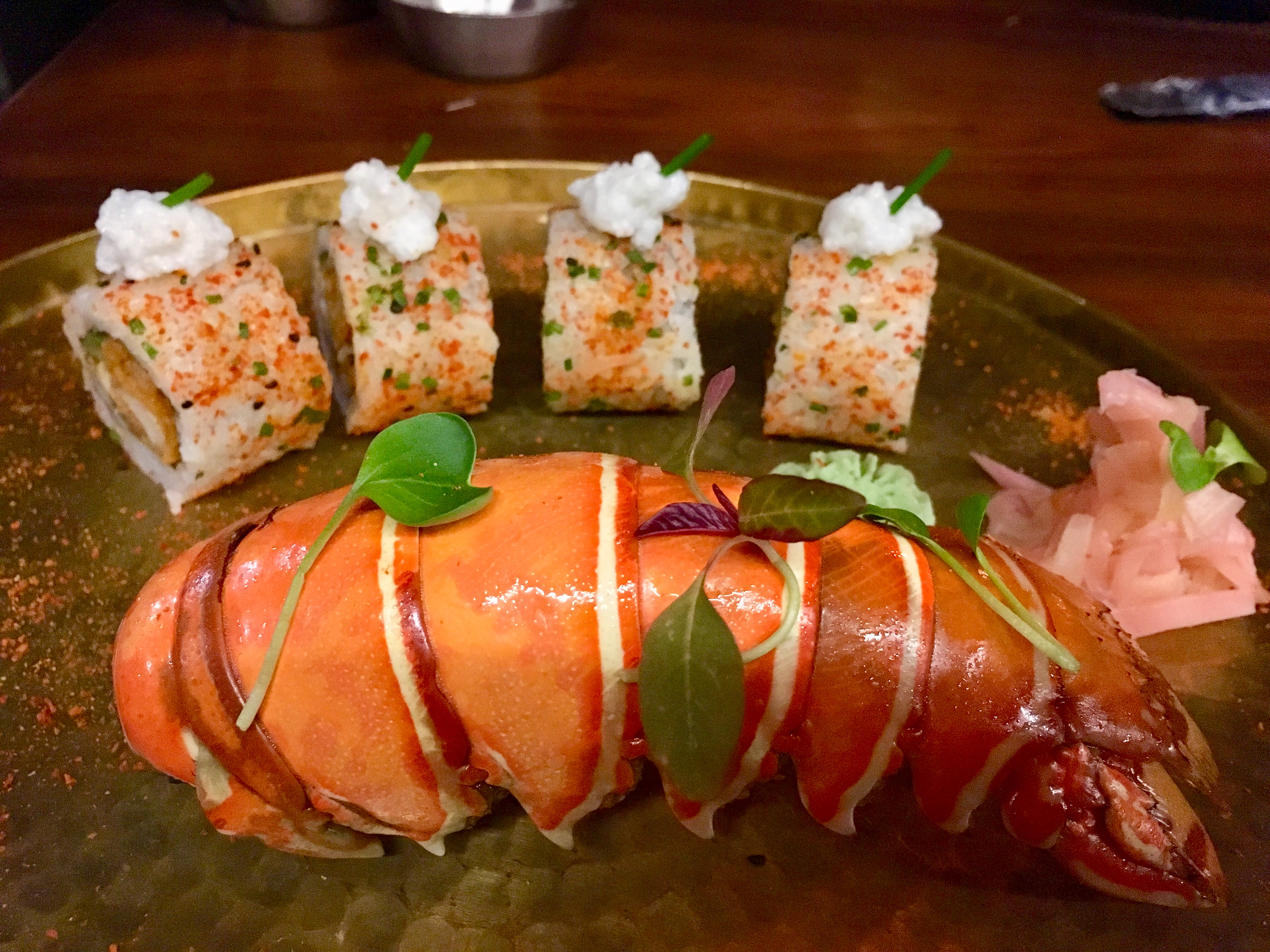 Lobster, sushi, Fine dining in India