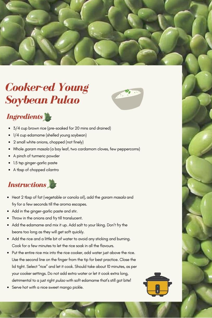 edamame, rice, cooker, beans, recipe